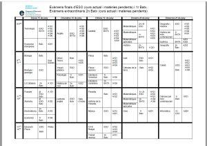 horari examens