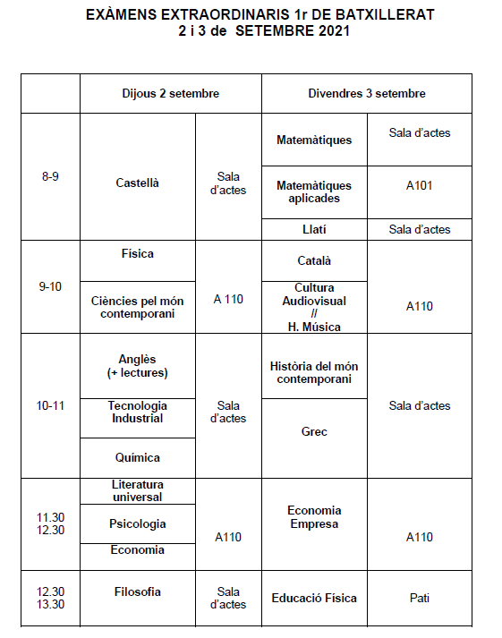 CALENDARI Exàmens SETEMBRE 2021.pdf - Adobe Acroba